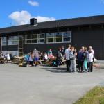Sommeravslutning med grilling for en klasse på Ørland Ungdomsskole.